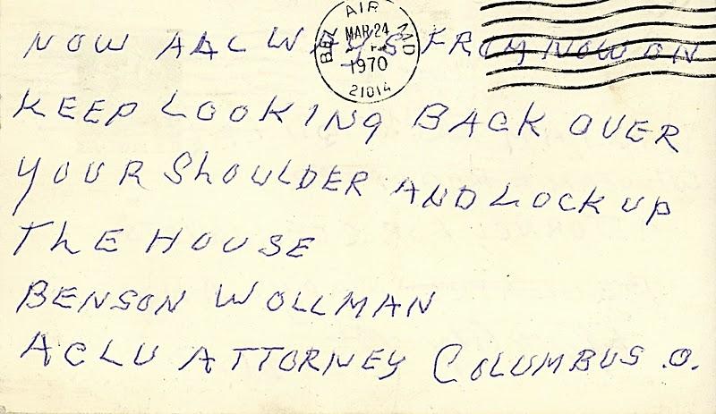Disturbing the Universe: Hate Mail - (postcard)
