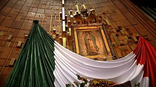 The original image of the Virgin of Guadalupe