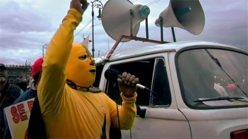 El General: Masked wrestler at a protest against the 2006 presidential elections, as seen in