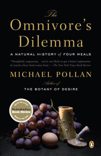 The cover jacket for 'The Omnivore's Dilemma'