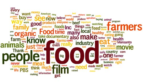 Food, Inc. Viewer Comment Wordle