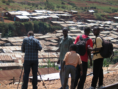 Good Fortune filmmakers shooting in Kibera jpg