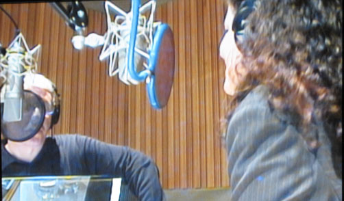 The Oath - David Brancaccio and Laura Poitras in recording booth