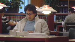 Presumed Guilty Filmmaker in library jpg