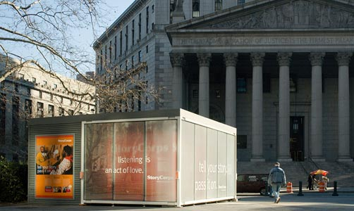 Booth at Foley Square Courthouse, Lower Manhattan