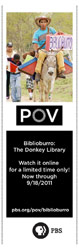 Biblioburro donkey library bookmark