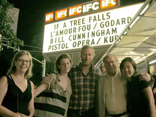 At the 'If A Tree Falls' premiere: (l-r) Chris Hegedus, Carin Berninger, Matt Berninger, DA Pennebaker and Jean Kim