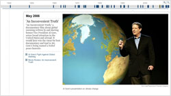 New York Times timeline - 70 Years of Environmental Change