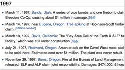 Wikipedia Timeline ELF