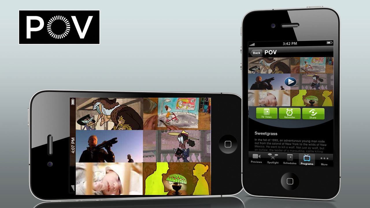 PBS iPhone App with Sweetgrass Image