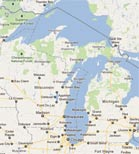 Map of Northwoods - Google Map - inset