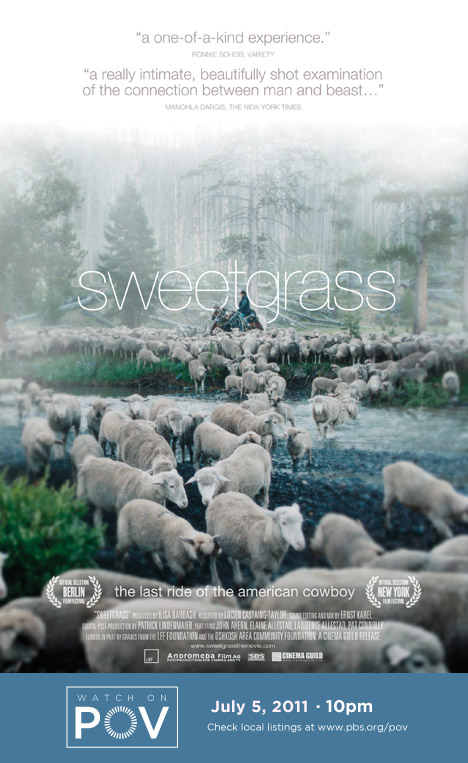 Sweetgrass movie poster with POV air date (image)