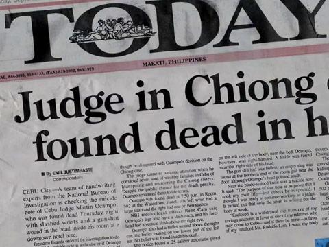 Judge Ocampo Found Dead