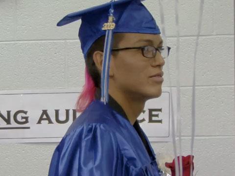 Graduation at Navajo Pine High School