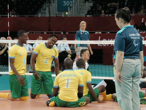 Hanging Tough: Rwandan Volleyball Team