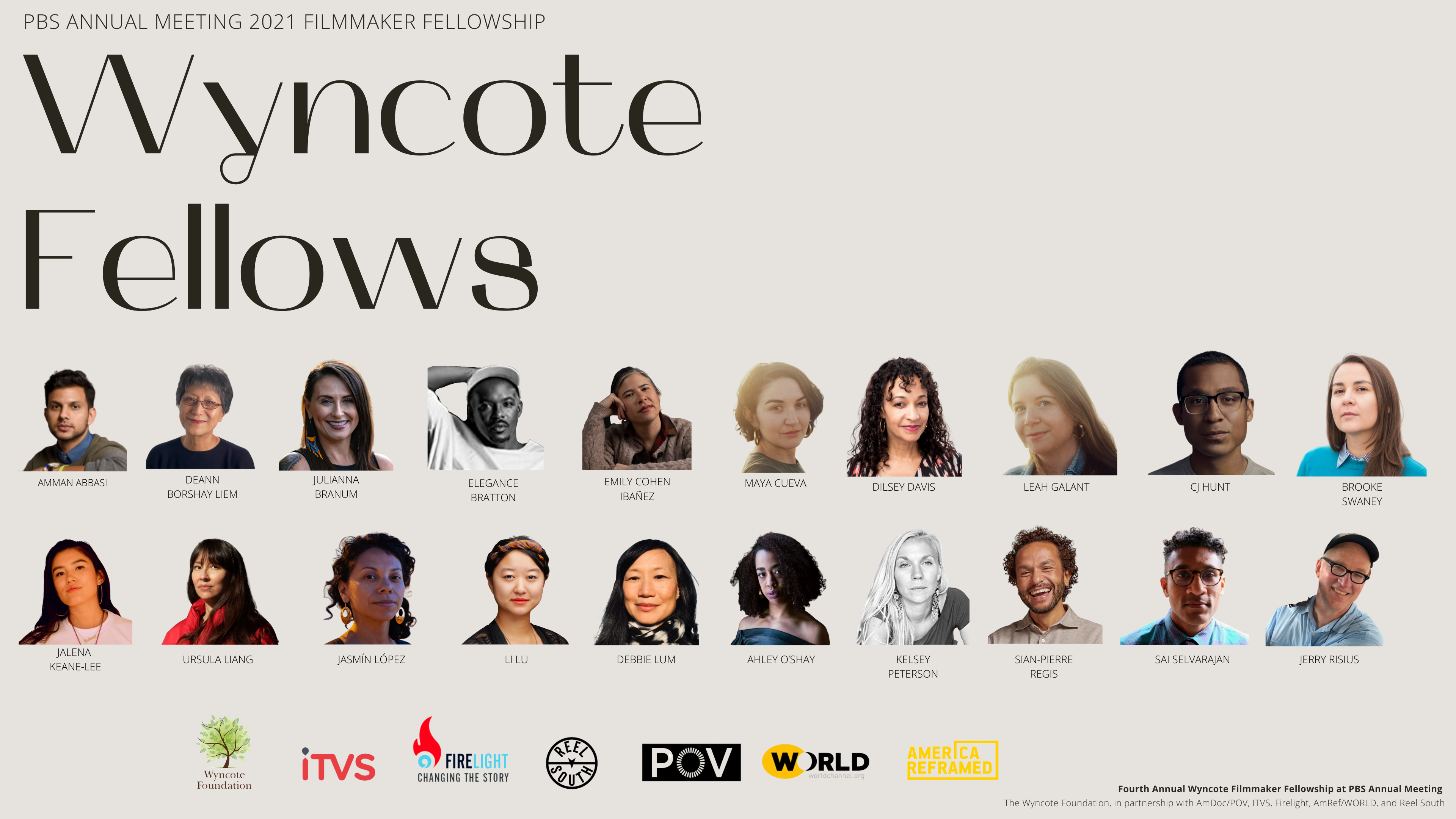 POV and America ReFramed Filmmakers Selected for 2021 Wyncote Fellowship at PBS Annual Meeting